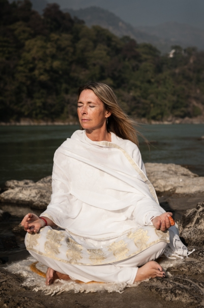Rishikesh, India portrait on Ganges