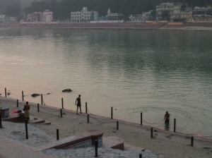 bathers at the ganges