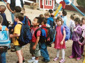 Lili's first day of school