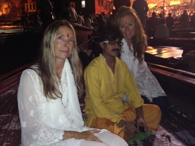 Rock Star Pujari with Nancy and me, feeling peaceful