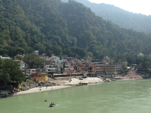 Beautiful Rishikesh from Laxman Jula bridge