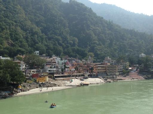 Beautiful Rishikesh from Laxman Jula bridge